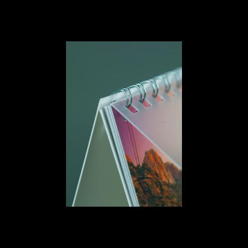 Calendario Sobremesa con Wire-0 - 12 pág. 16x15 cm.