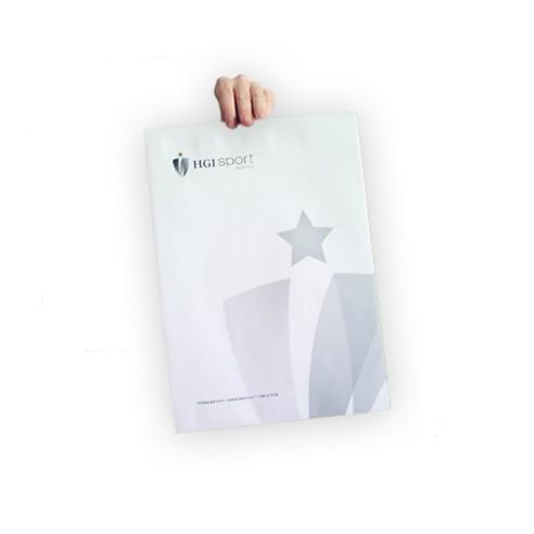 Dispensador transparente para flyers de 10x21 cm.