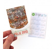 Calendario 8,5x5,4 Plastificado Brillo o Mate 2 caras