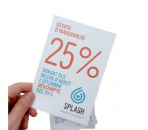 Flyer Papel 250g. Eco Reciclado A6
