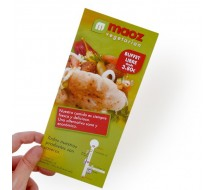 Flyer 10x21 Papel 300g con barniz Brillo