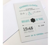 Invitacion A6 Papel Reciclado 300g